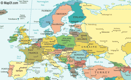map of russia and europe maps Pinterest