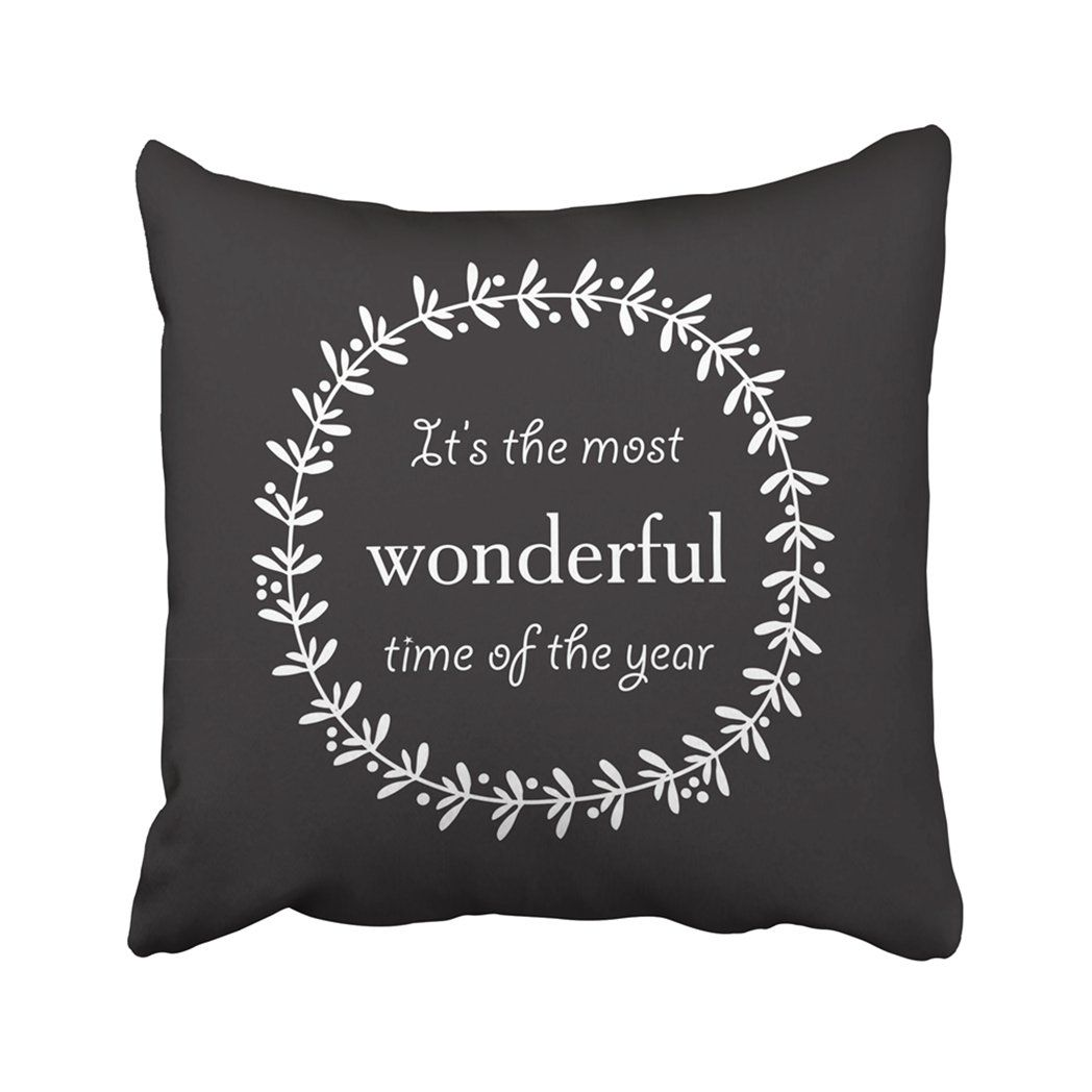 Photo of Christmas Quote In Doodle Minimalistic Board Wreath It's The Most Wonderful