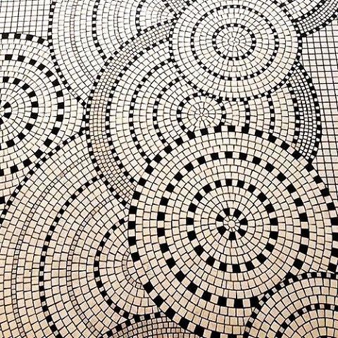 Tiles around town • B&W • Argentinian Interiors #tiles #blackandwhite…