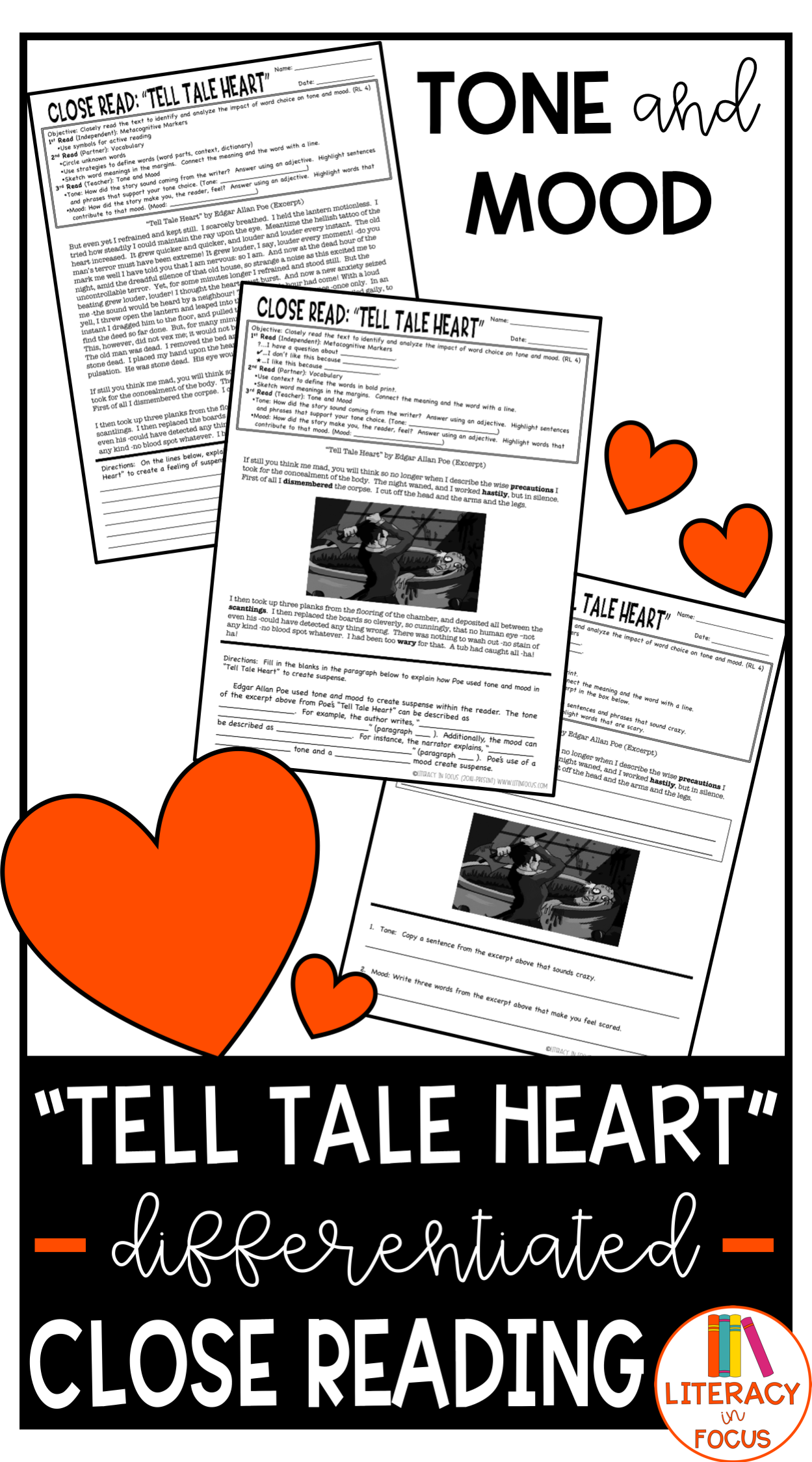 Tell Tale Heart Activities