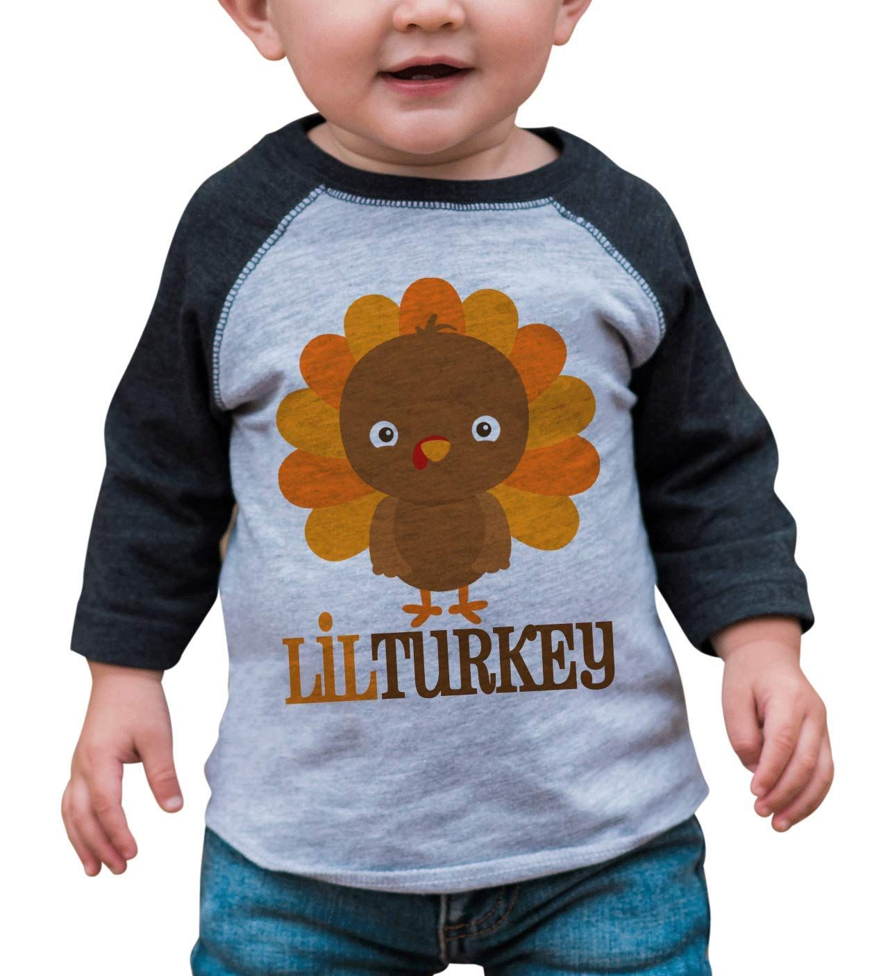 7 Ate 9 Apparel Baby Boys Little Turkey Thanksgiving 12 Months Grey Raglan Click Photo Thanksgiving Baby Outfits Toddler Boy Outfits Boys Thanksgiving Shirts