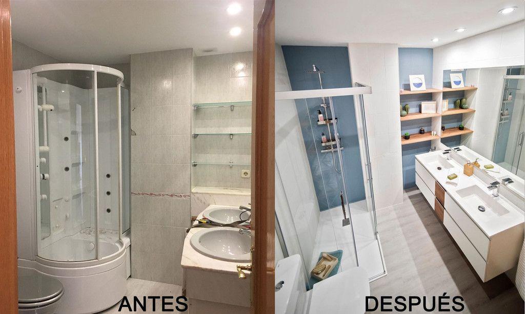 Antes y después; un cuarto de baño cálido y fresco gracias ...