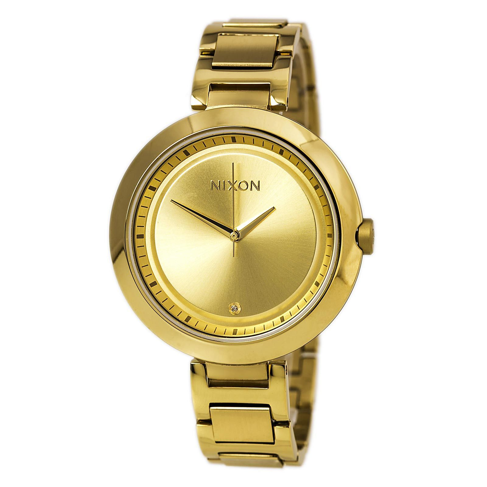 Nixon A264502 Women's Optique Gold Tone Dial Gold Plated