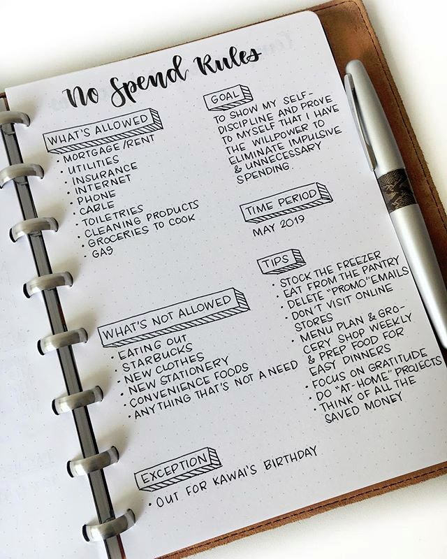 35 Minimalist Bullet Journal Spreads You Have To T