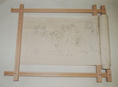 St. Thomas guild - medieval woodworking, furniture and other crafts: The Thomasteppich project: the embroidery frame