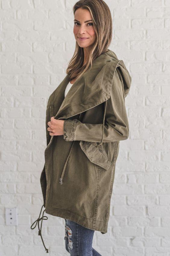 Fall Olive Cargo Jacket