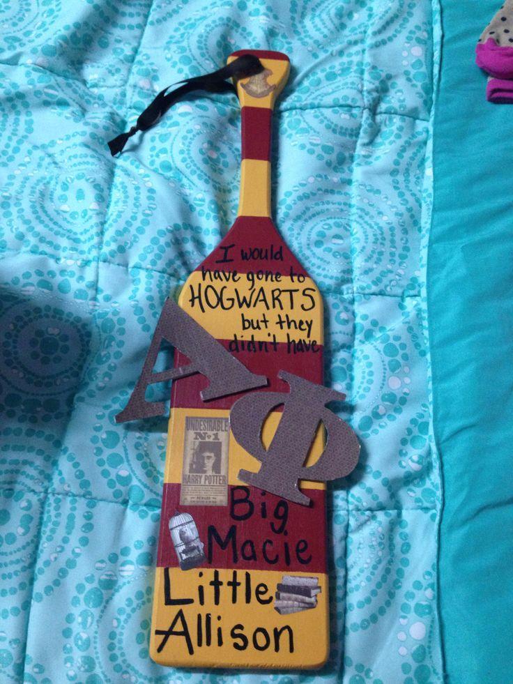 Harry Potter Paddle Idea | Frat Crafts | Pinterest | Sorority ...