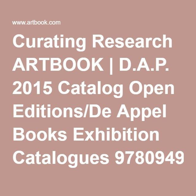 Curating Research ARTBOOK