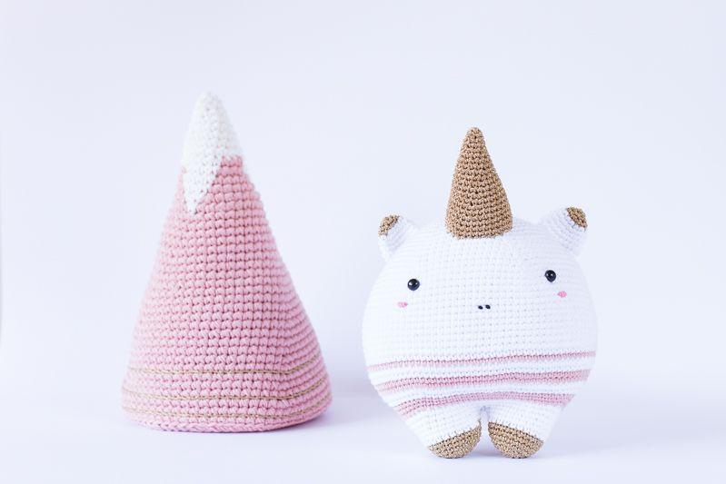unicornio y su montaña | amigurumi | Pinterest | Unicornio ...