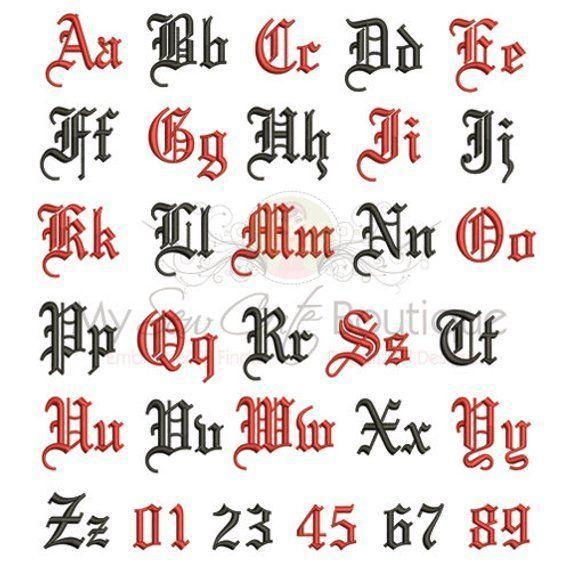 Old English Machine Embroidery Font Monogram Alphabet, Old English Embroidery Font, Embroider... -  Old English Machine Embroidery Font Monogram Alphabet, Old English Embroidery Font, Embroidery Desi - #Alphabet #Embroider #embroidery #English #font #Machine #Monogram #smallbacktattoos #tatoobird #tatoobrothers