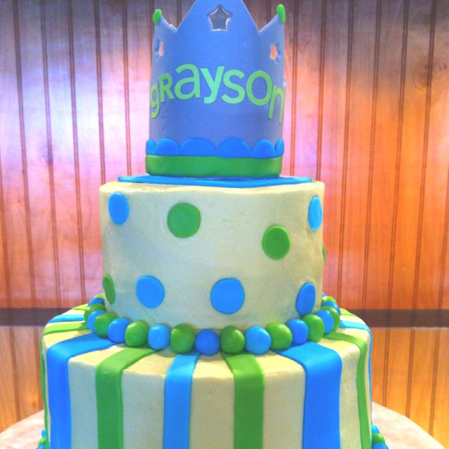Baby shower cake my aunt made for my little Grayson!