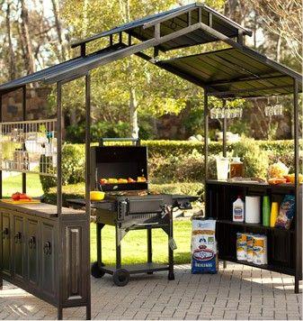Grill Gazebo Want This Grill Gazebo Patio Plans Backyard