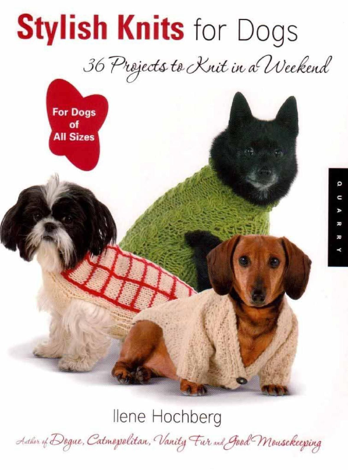 Patrones crochet revista crochet para nuestras mascotas ebook stylish knits for dogs 36 projects to knit in a weekend bankloansurffo Gallery