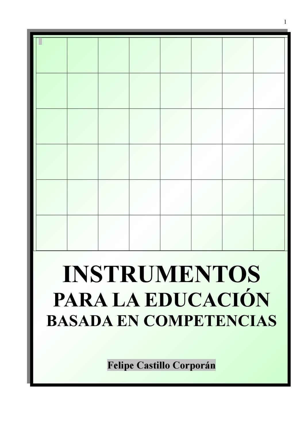 Instrumentos para la educacion basada en competencias