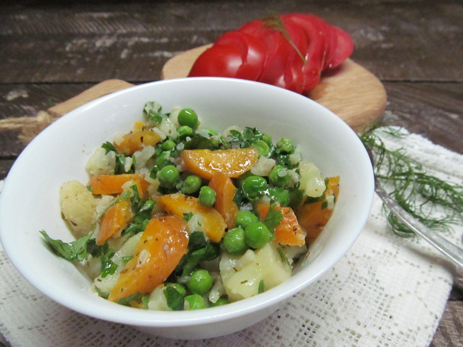 гарнир из замороженных овощей рецепты с фото