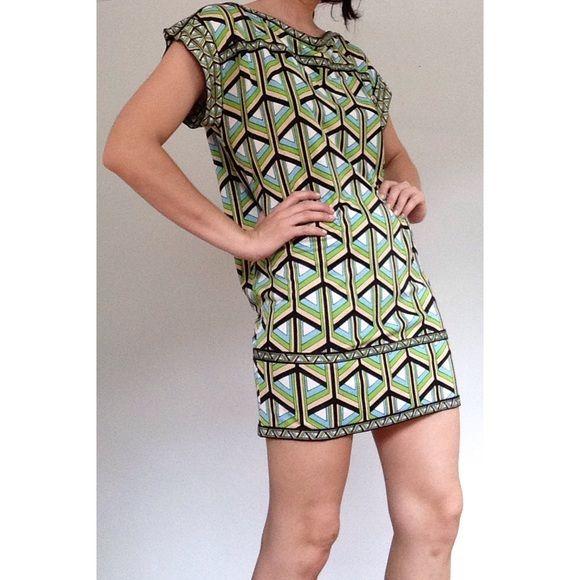 GEOMETRIC DRESS Cool 70's style dress :) Geometric pattern. Diane von Furstenberg Dresses