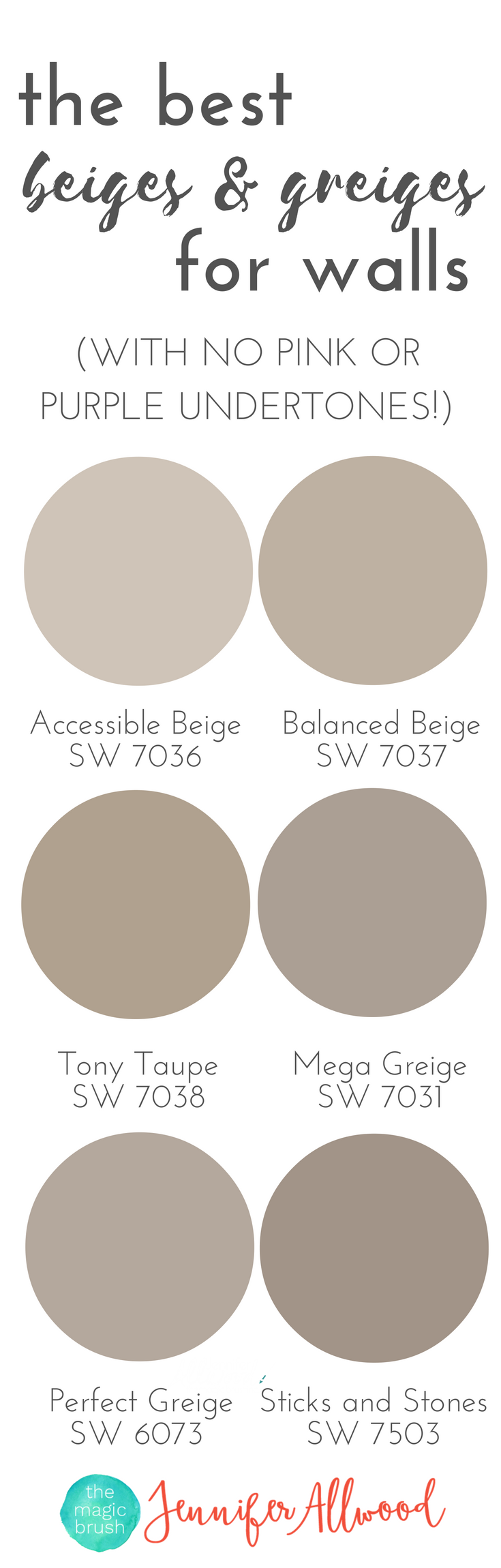 The best beige and greige wall paints for walls magic for Neutral shades of paint