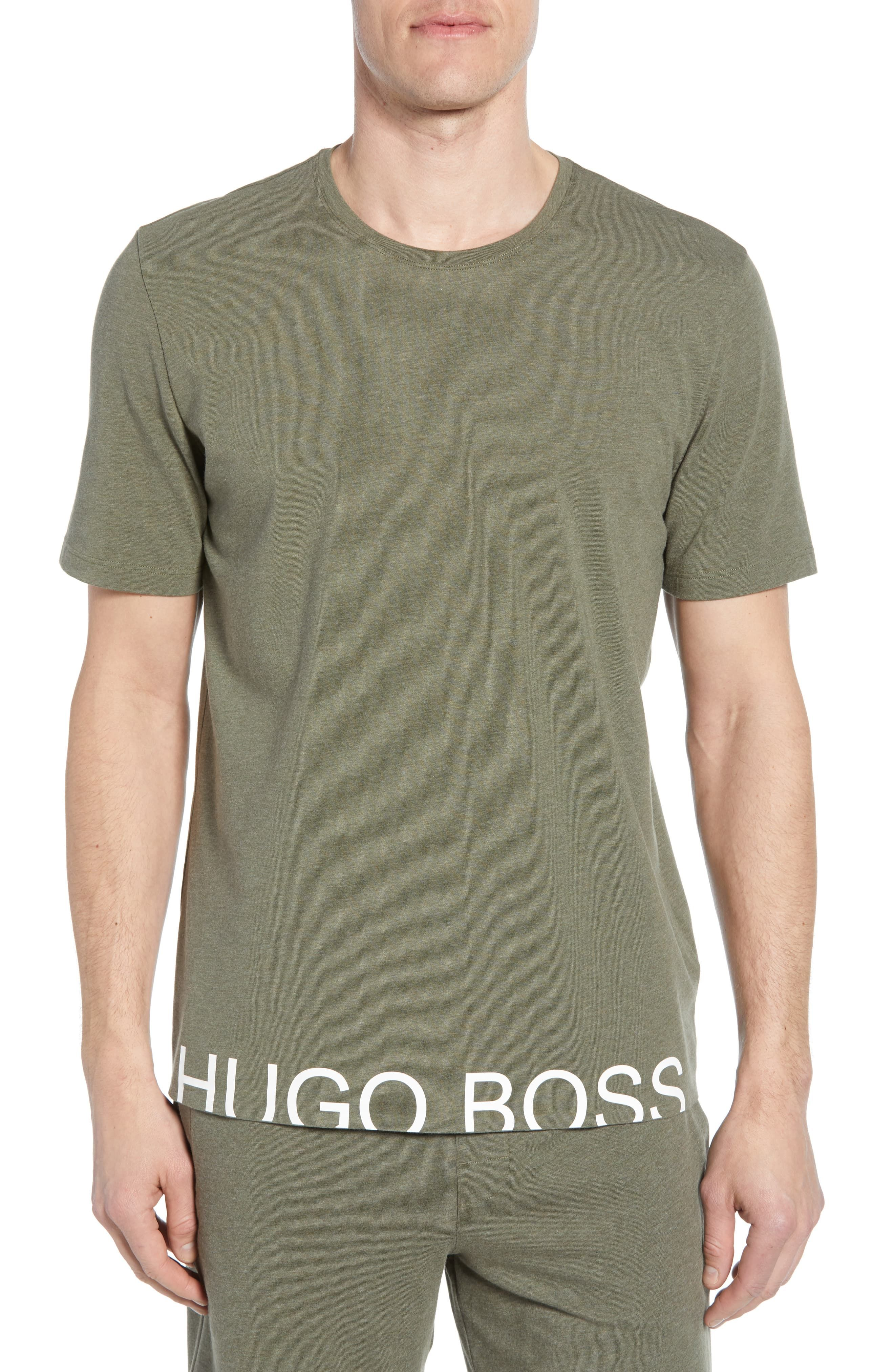 67c97aa2 Men's Boss Identity Stretch Cotton Crewneck T-Shirt, Size XX-Large - Green
