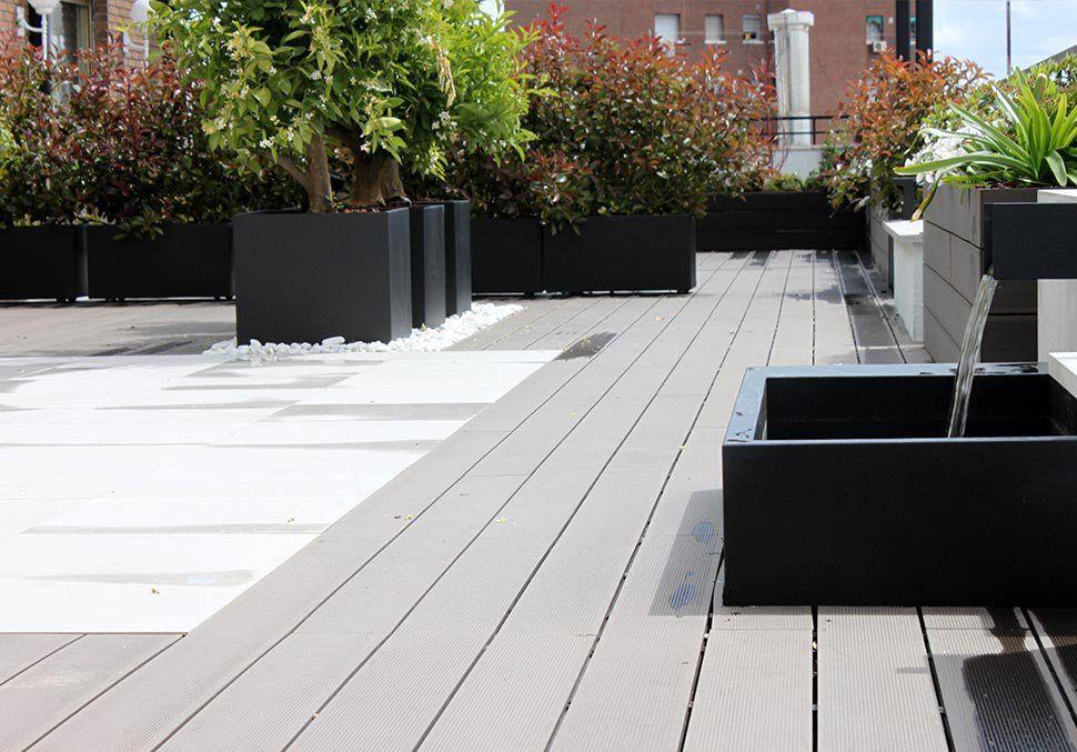 Terraza Con Jardín Para Eventos En Madrid Jardines La