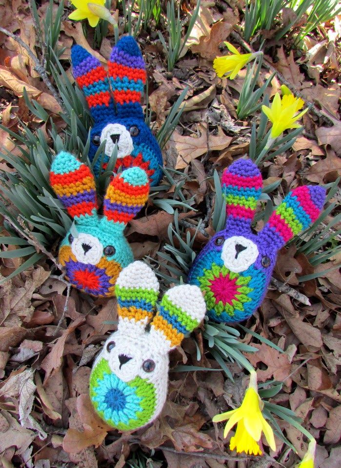 Crochet and other stuff: Cute Easter Bunnies | crochet patterns ...