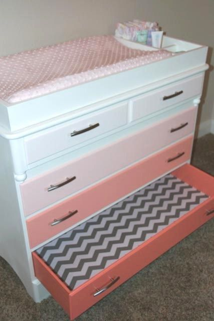 DIY-ombre-dresser-changing-table | House things that I like ...