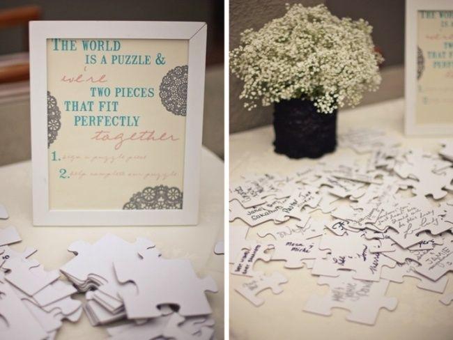 Puzzle Spiel Gastebuch Hochzeitsideen Zur Unterhaltung Der