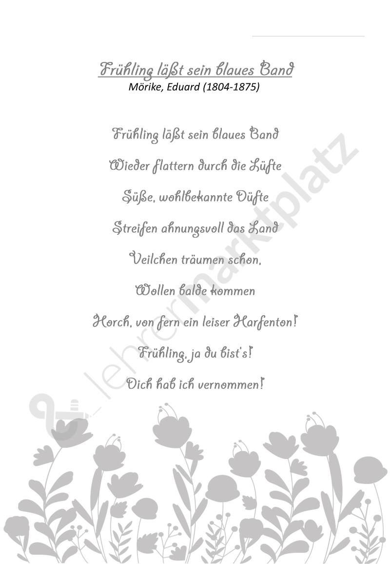 Gedicht Frühling Lässt Sein Blaues Band Von Eduard Mörike
