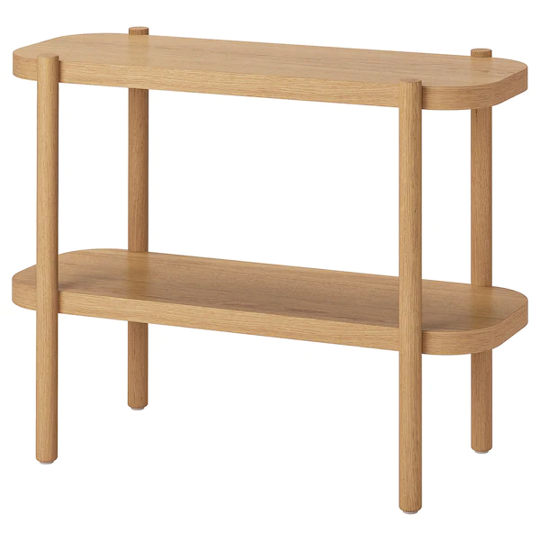 Listerby Ablagetisch Weiß Las Eiche 92x38x71 Cm Ikea Deutschland In 2021 Console Table - White Console Table With Storage Ikea