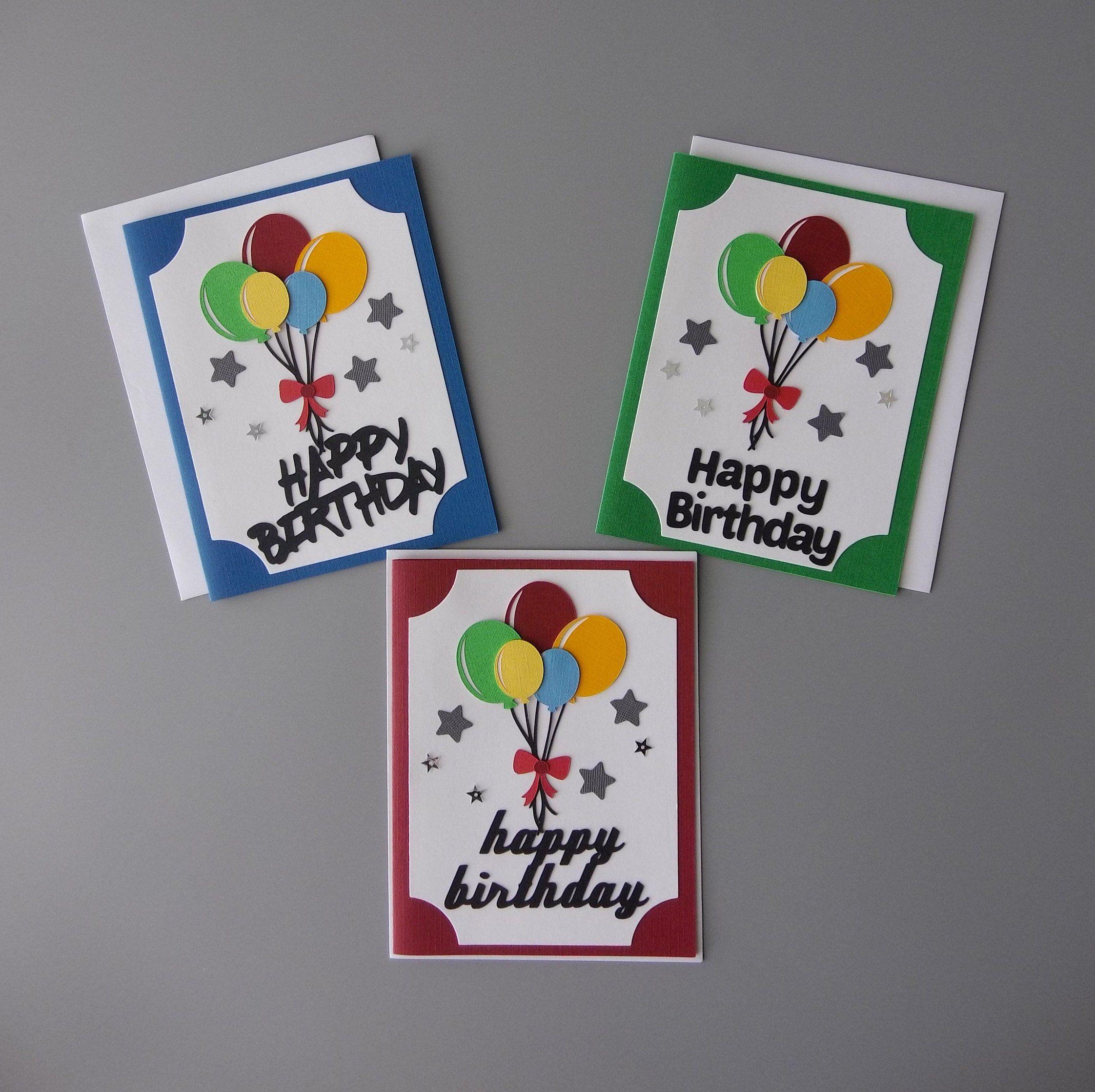 Birthday Card with Balloons Set, Friend Birthday Card
