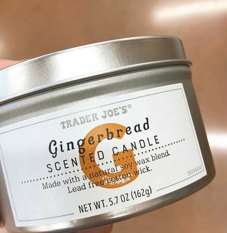 Details about trader joes gingerbread scented candle 57