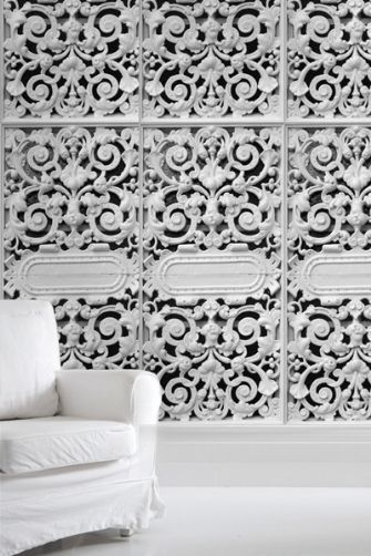 Cast Iron Lace Wallpaper by Young & Battaglia 2.5m Panel