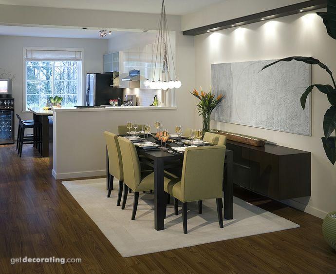 Modelo de sala comedor y cocina
