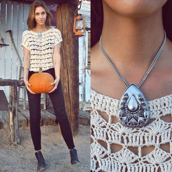 Crochet Boho Chic Summer Top – Free Pattern Based on Picture ...