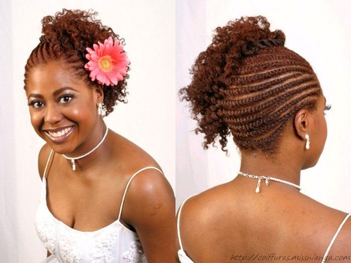 black natural twist hairstyles | Flat twists all to one side with ...