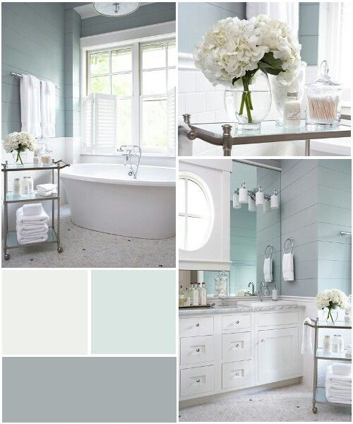 Subtle Blue And Green No Fail Coastal Paint Colors White Bathroom Retreat Color Schemes
