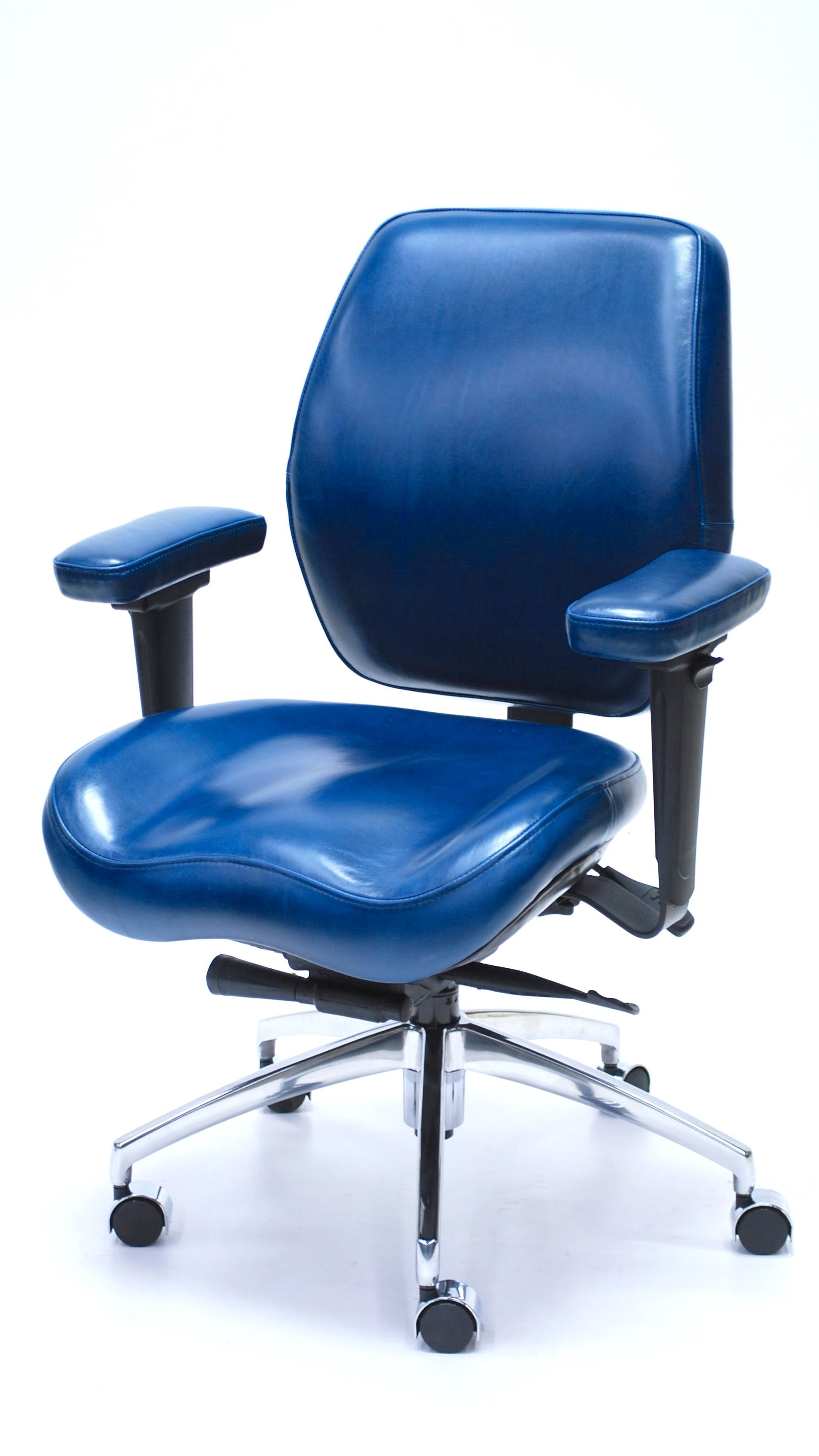 desk chair made fishing chairs with rod holders lifeform premium leather full function ergonomics in canada