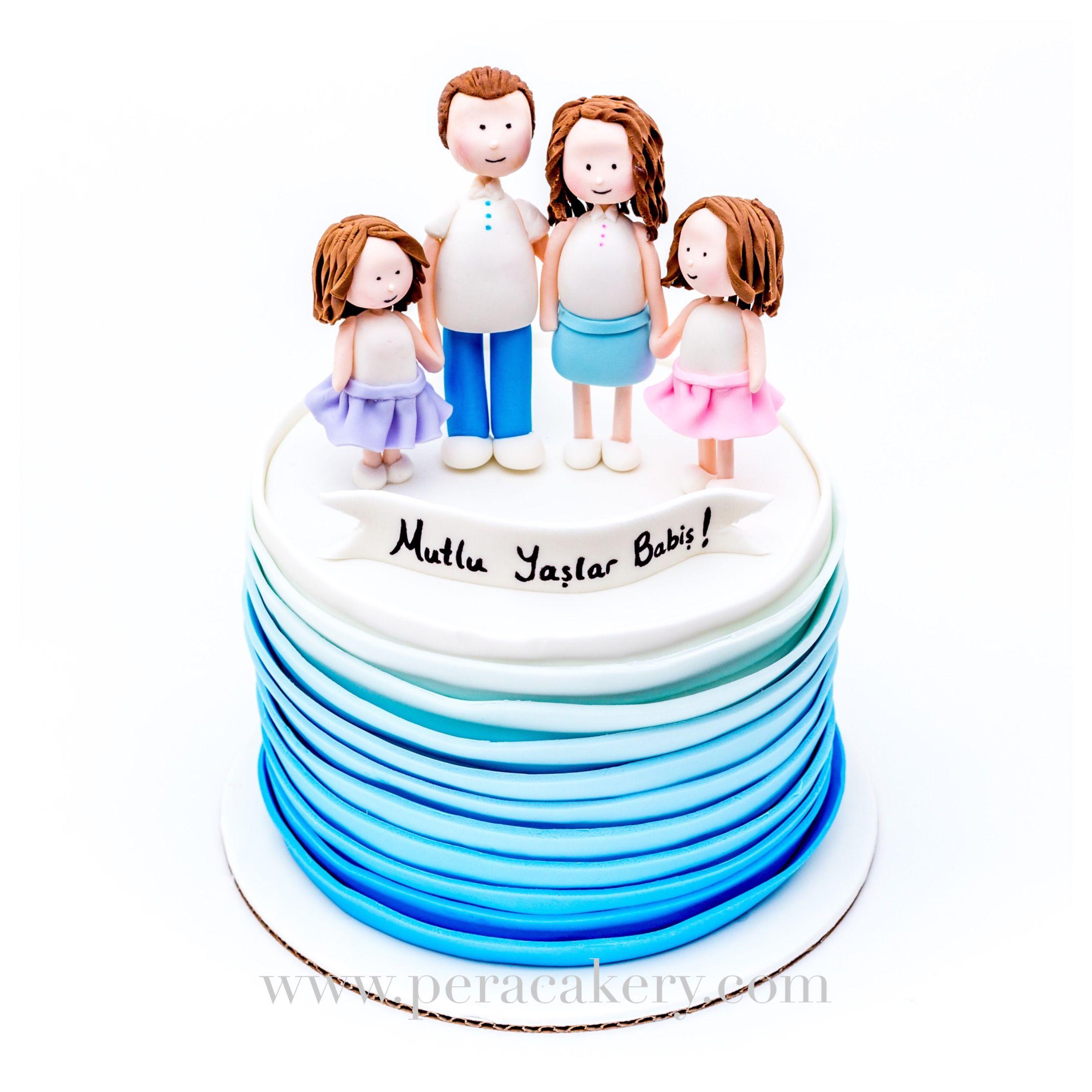 cute family ombre cake design pera cakery cakes pinterest