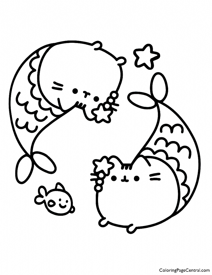 Pusheen Mermaid Coloring Page Pusheen Mermaid Coloring Page Pusheen Mermaid Coloring Page Pusheen Coloring Pages Mermaid Coloring Pages Unicorn Coloring Pages