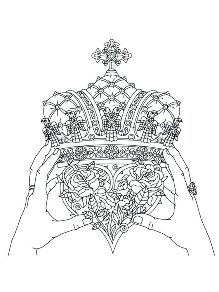 Crown Coloring Pages 031 For A King The Crown Is A Symbol Of His Power By Wearing A Crown He Will Lo Coloring Pages Cute Coloring Pages Free Coloring Pages