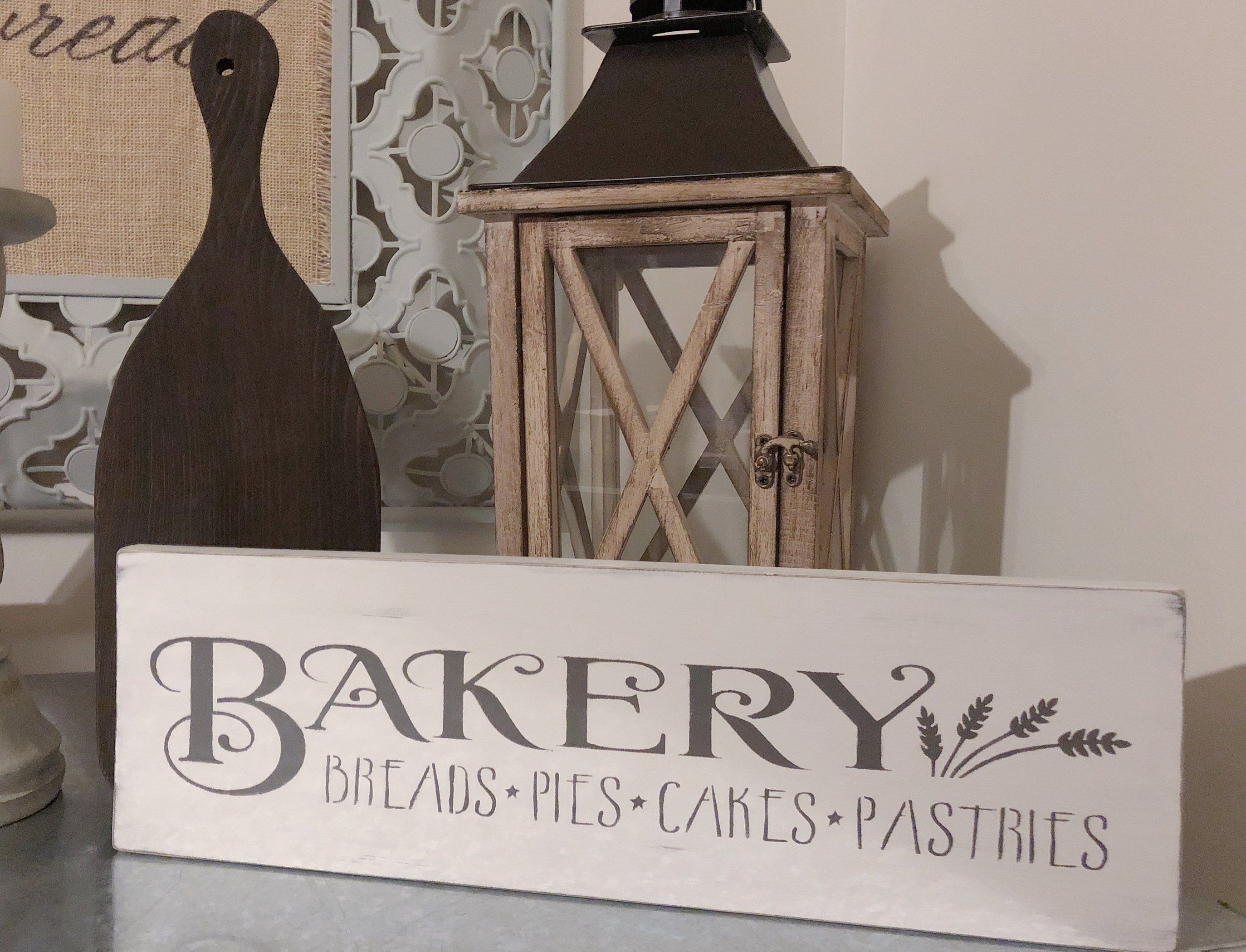 Bakery Sign, Wooden Bakery Decor, Cottage Kitchen Decor
