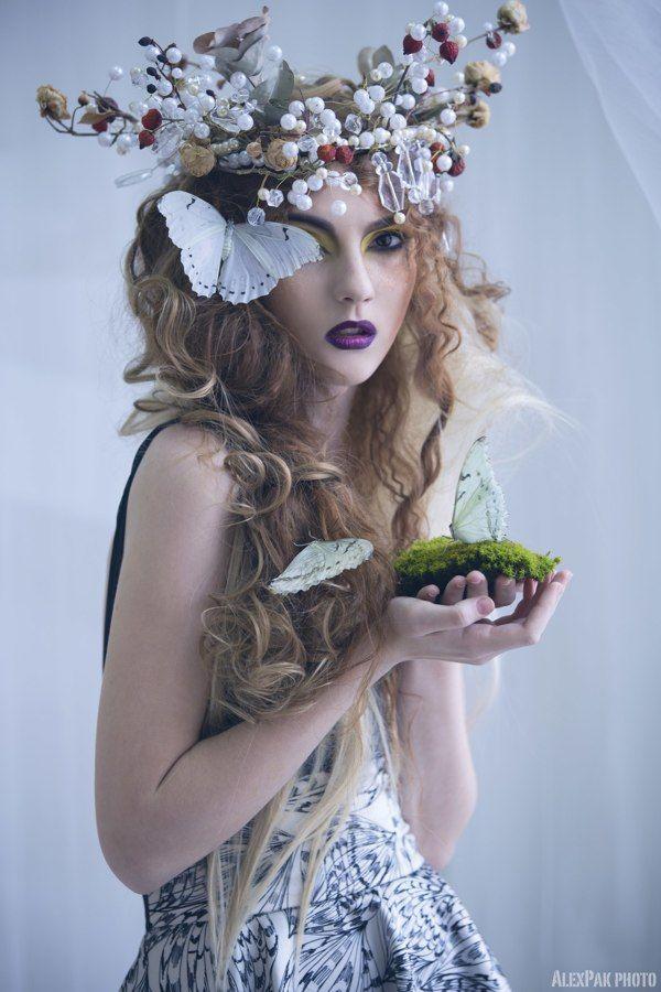 butterfly by anna kubanova, via Behance