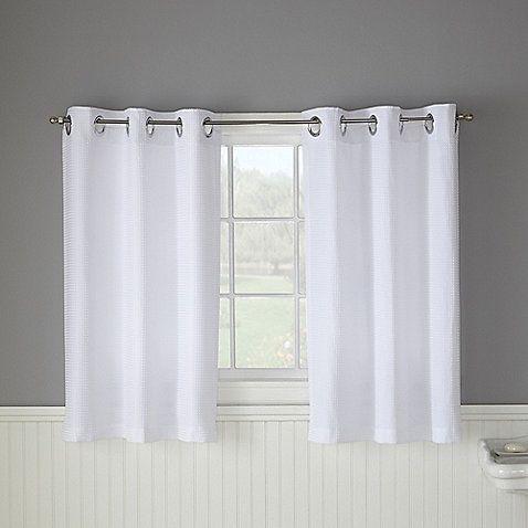 Hookless Waffle Window Curtain Bathroom Window Curtains