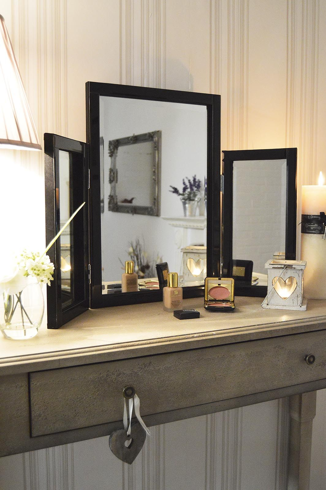 Dressing table mirrors with lights triple black glass dressing table mirror xcm  cheap mirrors