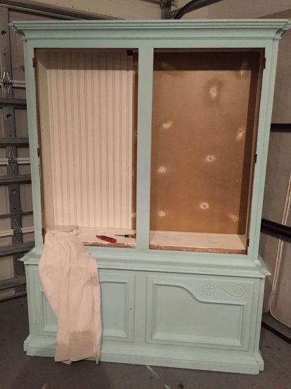 Room Dining China Cabinet Makeover Chalk Paint