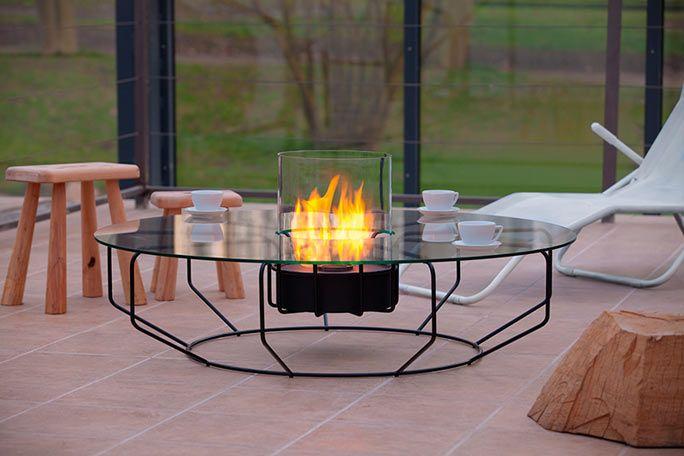 Ethanol-Feuerstelle mit Glasplatte Outdoor Pinterest - feuerschale im garten