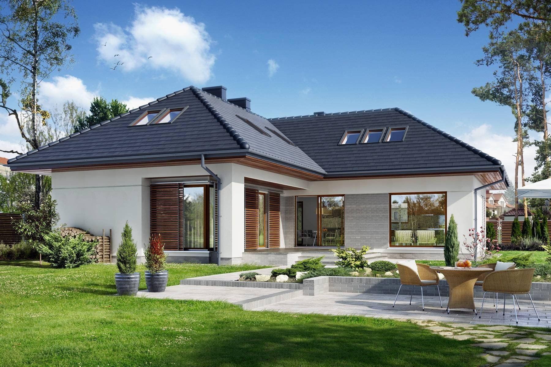 фото проекты угловых домов с мансардой рожай