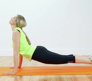 how to do the upward dog yoga pose video  fitness body