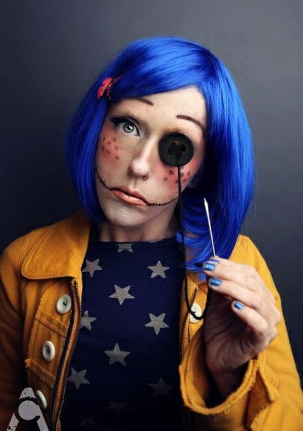 Great Halloween Costumes Blue Wig Fantasias Incriveis Fantasias Halloween Fantasias Hallowen