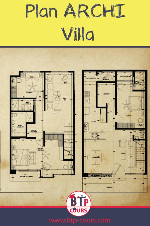 Plan Archi Villa Plan Dwg Telecharger Le Plan Modern Architecture Building How To Plan Autocad