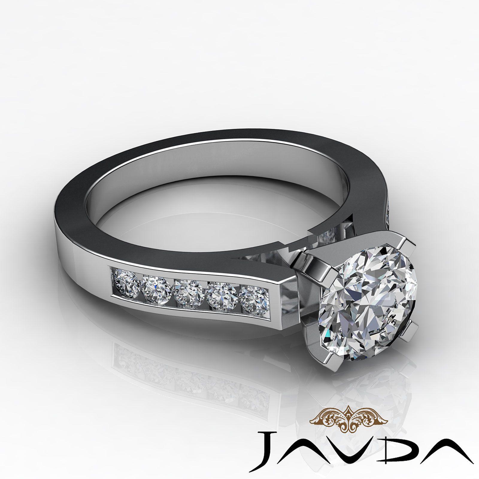 Genuine Round Cut Diamond Channel Set Engagement Ring GIA G SI1 Platinum 1 5 Ct   eBay